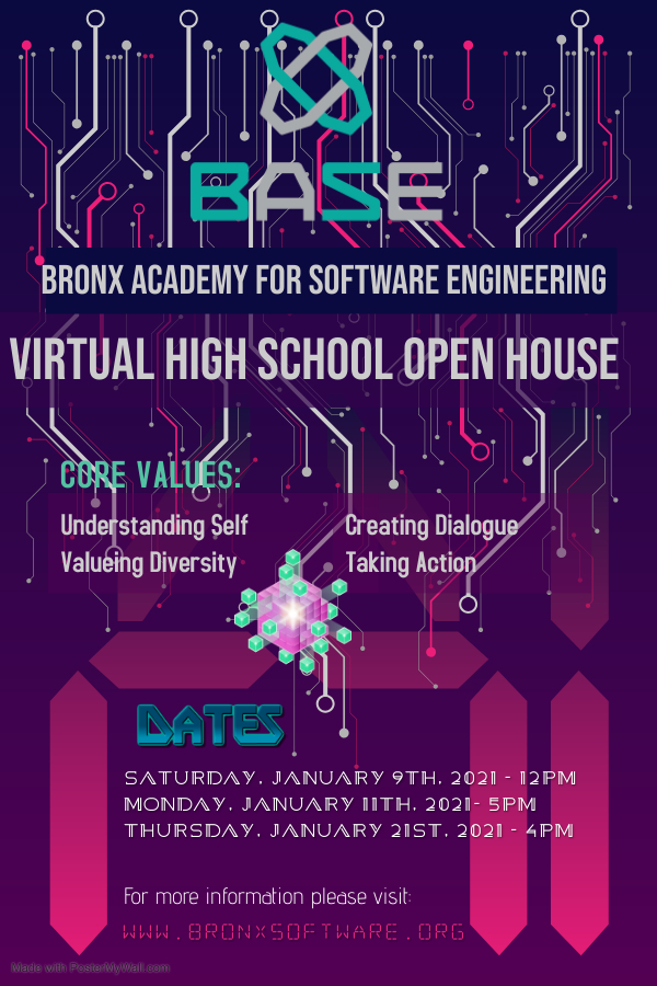 Virtual Open House @ BASE for 8th Graders