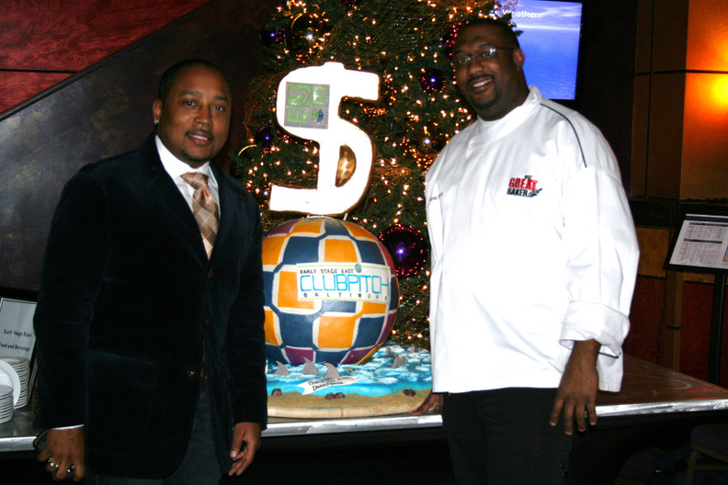 Chef Dana with Daymond John from Shark Tank
