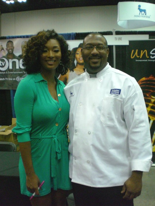Chef Dana with America's Next Top Model Tocarra Jones