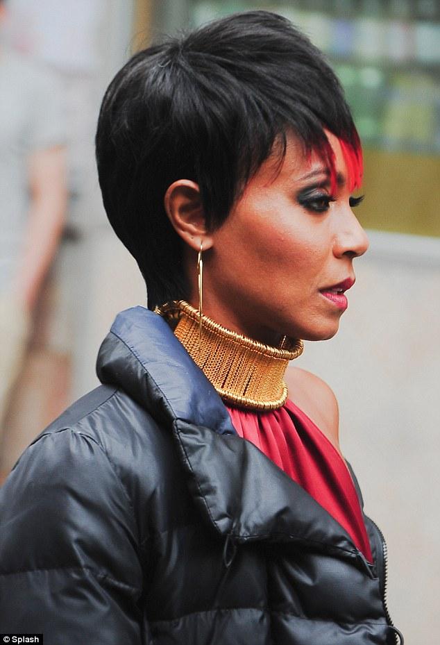 Jada Pinkett-Smith on set of Gotham in NYC2