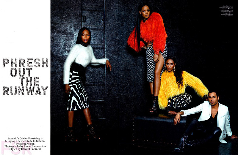 Balmain editiorial feat Iman, Naomi and Rihanna1 resized