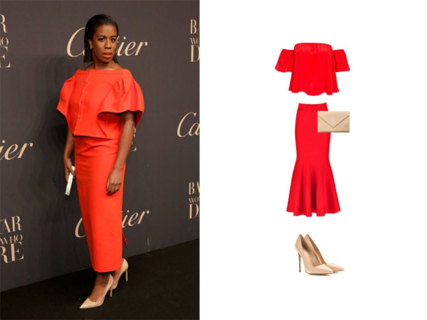 Uzo Aduba Red Carpet Look for Less