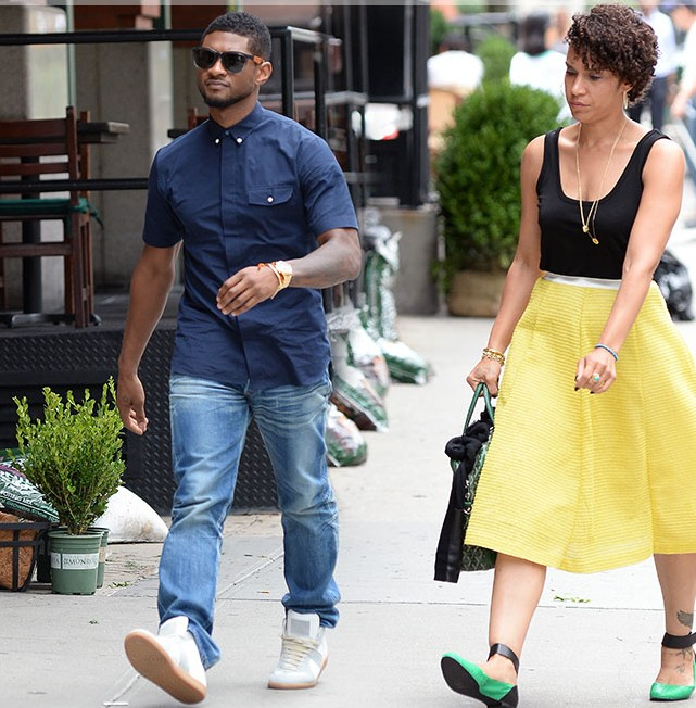 Usher dating his manager