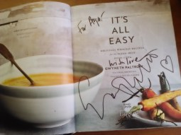 Gweneth Paltrow It's All Easy Autographed Cookbook