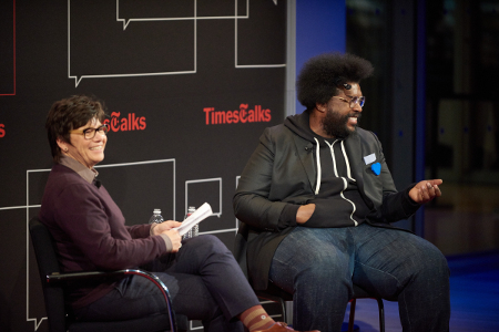 Questlove with Kim Severson Photo credit: Mike Cohen