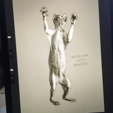 iPad Pro sketch by Brooke Dibble in Procreate app based on photo ref by photographer Alicia Rius