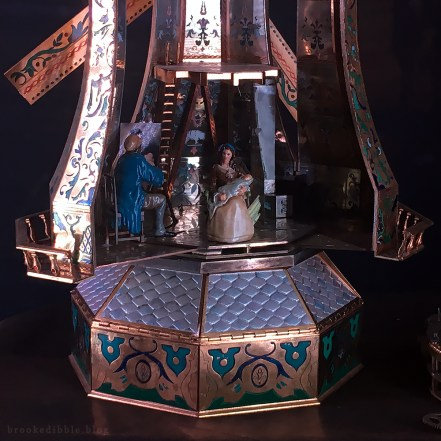 I sculpted the tiny figurines for this windmill model - Beauty & the Beast movie props at the El Capitan Theatre