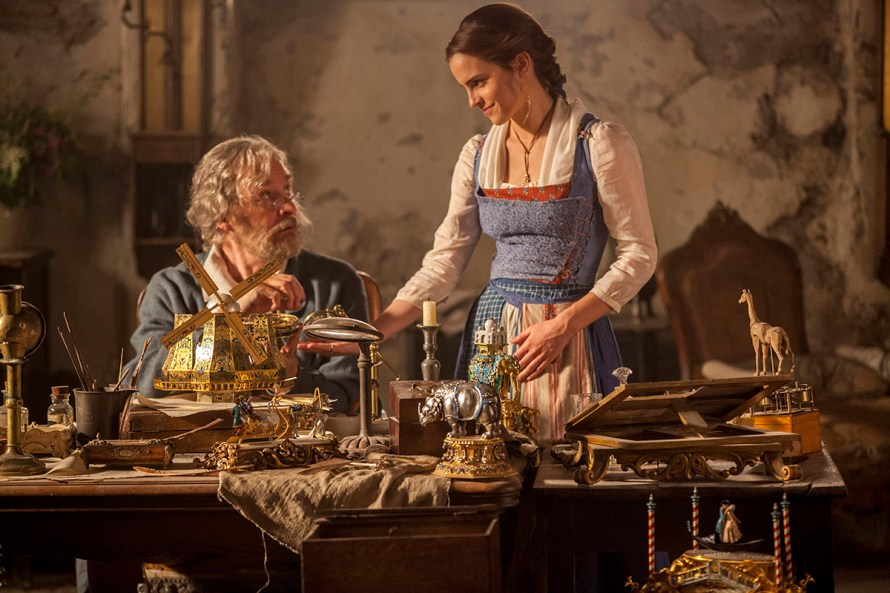 Promo image (copyright Disney) - Beauty & the Beast / Maurice and Belle with some of the props from the film