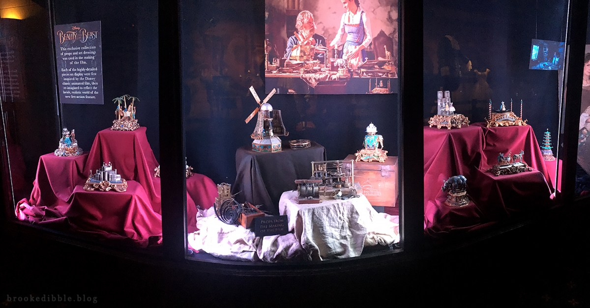 Beauty & the Beast props at the El Capitan Theatre