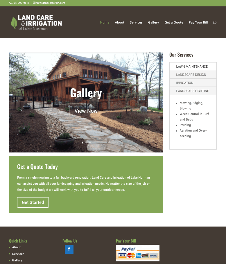 LKN Landscaping Website | Website Design