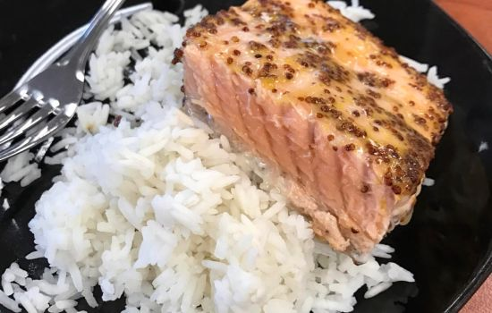 Maple Dijon Glazed Salmon