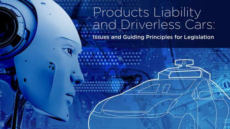 Products Liability and Driverless Cars