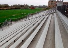 REUTERS/Jim Bourg - The football stadium stands of Montgomery Blair High school.