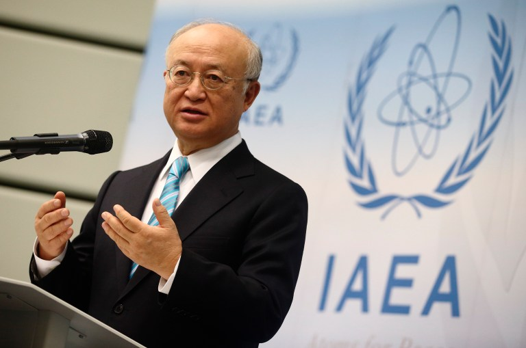 International Atomic Energy Agency (IAEA) Director General Yukiya Amano addresses a news conference after a board of governors meeting at the IAEA headquarters in Vienna March 2, 2015. REUTERS/Heinz-Peter Bader
