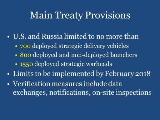 Main Treaty Provisions
