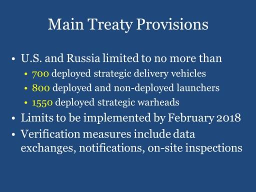 Main Treaty Provisions