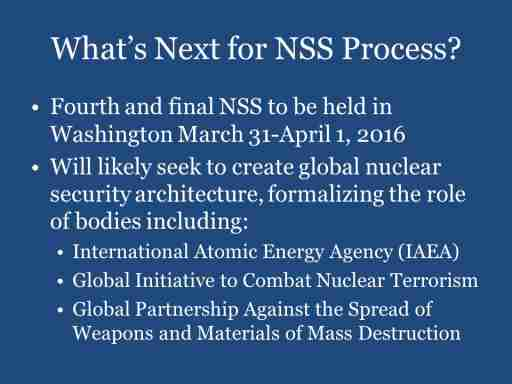 What's Next for NSS Process?