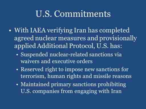 U.S. Commitments