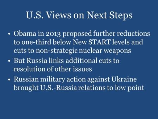 U.S. Views on Next Steps