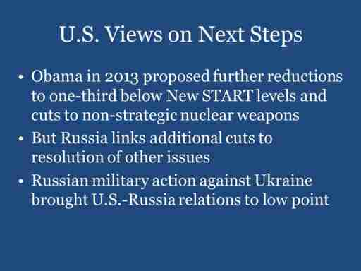 U.S. Views on Next Steps