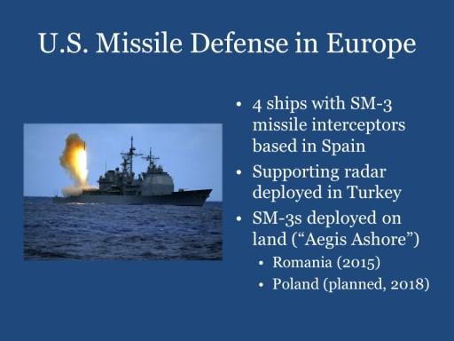 U.S. Missile Defense in Europe