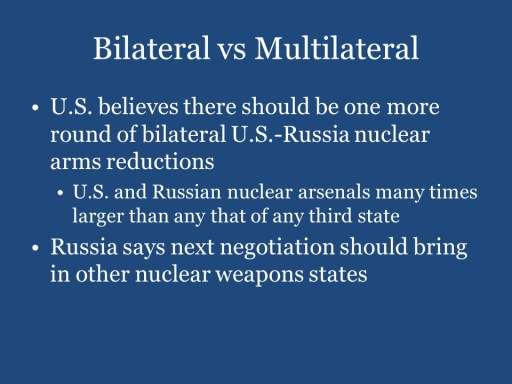 Bilateral vs Multilateral
