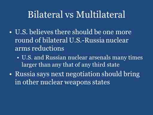 Bilateral vs Multilateral