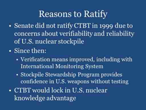 Reasons to Ratify
