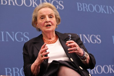 Photo: Former US Secretary of State Madeleine Albright speaks at the 10th annual Sakıp Sabancı Lecture
