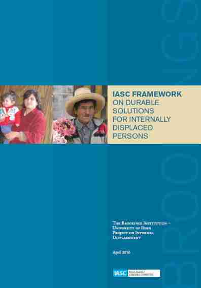 framework on durable solutions cover