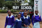 Girls at a school in Kenya