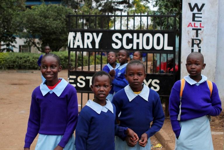 Girls at a school in Kenya
