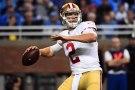 San Francisco 49ers quarterback Blaine Gabbert