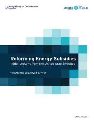 Reforming energy subsidies: Initial lessons from the United Arab Emirates report cover