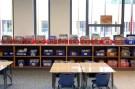 An elementary school classroom