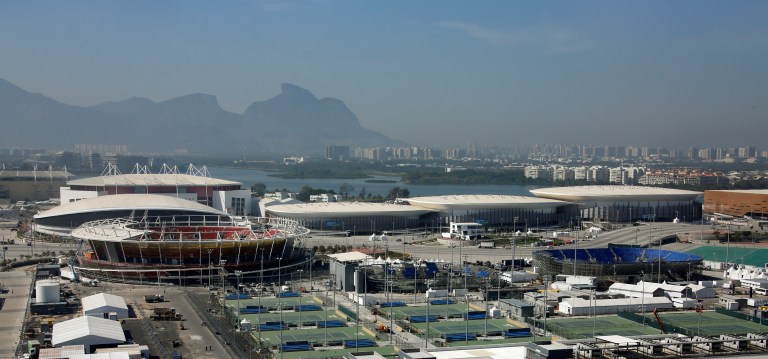 A general view shows the venues inside the 2016 Rio Olympics Park in Rio de Janeiro, Brazil, July 14, 2016. REUTERS/Fabrizio Bensch