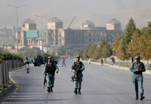 Photo of Afghan soldiers in Kabul.