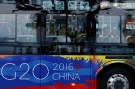 Passengers are seen on a bus near the West Lake, before G20 Summit in Hangzhou.