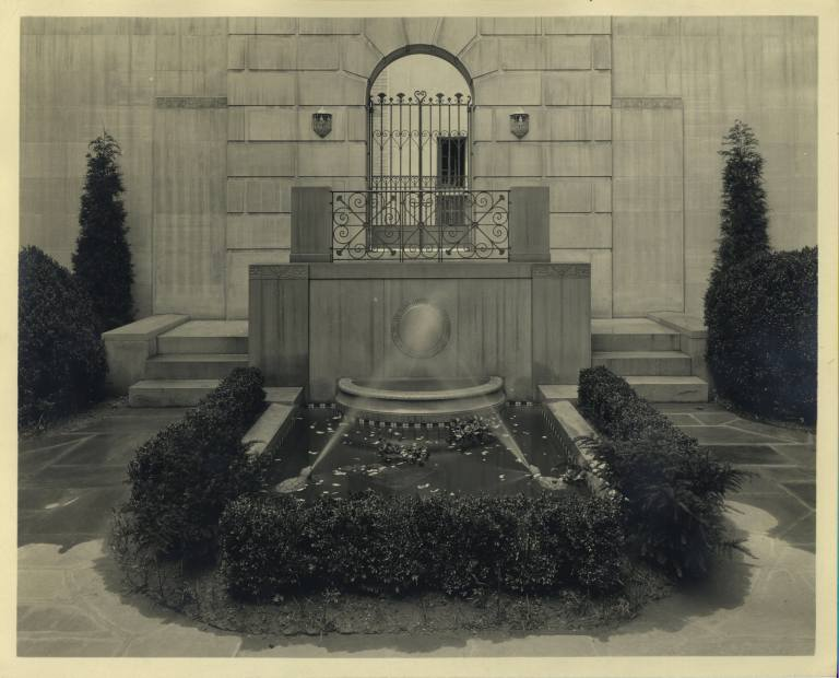 Fountain at the Institution's Jackson Place headquarters, on Lafayette Square in D.C.