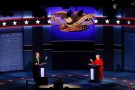 Republican U.S. presidential nominee Trump and Democratic presidential nominee Clinton speak during first presidential debate at Hofstra University in Hempstead