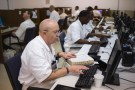 Offenders research and work on their papers inside the Southwestern Baptist Theological computer lab located in the Darrington Unit of the Texas Department of Criminal Justice men's prison in Rosharon, Texas August 12, 2014. (REUTERS/Adrees Latif)