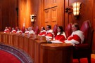 Canada's Supreme Court Justices take part in an official welcome ceremony at the Supreme Court of Canada in Ottawa, Ontario, Canada, December 2, 2016. REUTERS/Chris Wattie - RTSUEUS