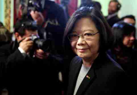 Taiwan's President Tsai Ing-wen leaves the Lopez Presidential Palace in Asuncion, Paraguay June 28, 2016. REUTERS/Jorge Adorno - RTX2IP8D