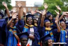 Graduates celebrate at Howard University in Washington