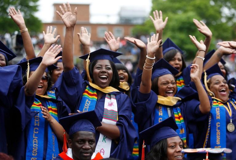 Graduates celebrate at Howard University in Washington