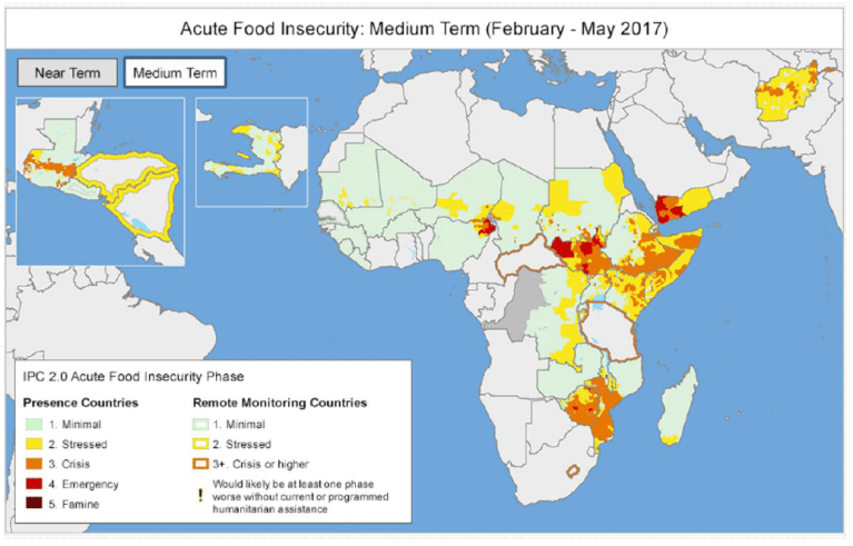FEWSNET Food insecurity