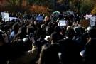 Students of New York University (NYU) protest.