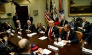 U.S. President Donald Trump holds a meeting with House Republicans at the White House in Washington, U.S. February 16, 2017. REUTERS/Kevin Lamarque - RTSYZT7