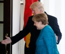 U.S. President Donald Trump escorts German Chancellor Angela Merkel at the White House in Washington, U.S., March 17, 2017. REUTERS/Jim Bourg
