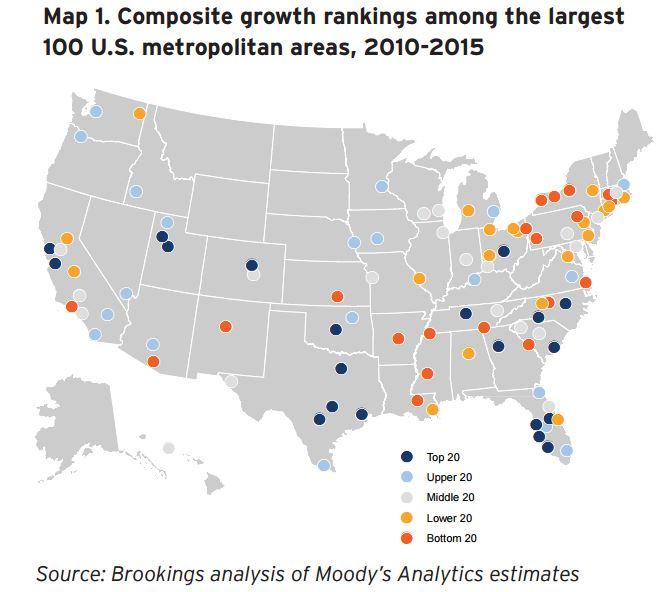Three maps that show how US metro economies are doing